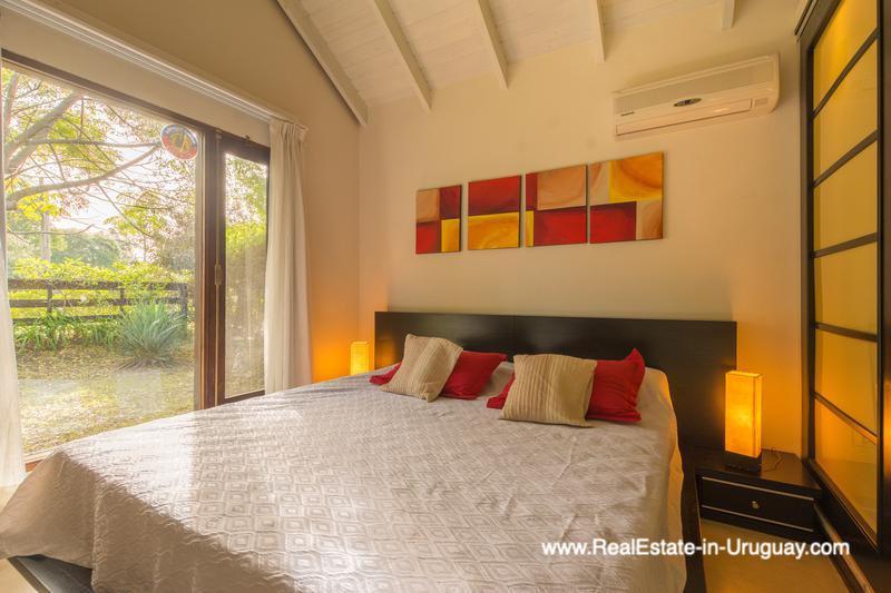 Guest Bedroom of Renovated Pool House in La Barra