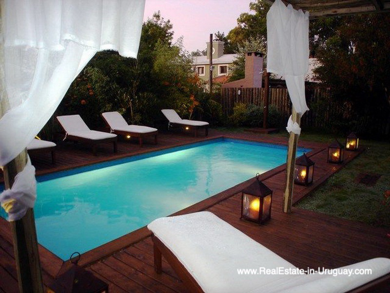 Deck of Renovated Pool House in La Barra
