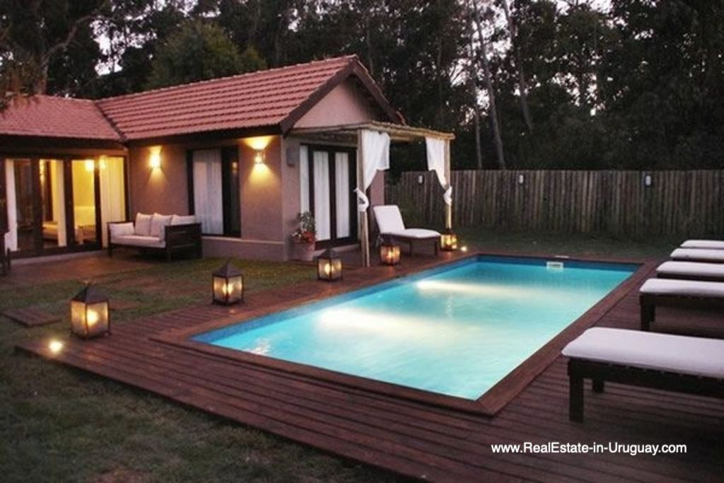 Pool of Renovated Pool House in La Barra