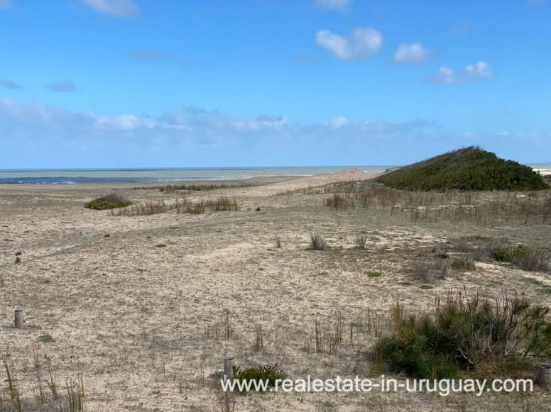 Beach of Frontline Beach Home in San Antonio close to La Pedrera in Rocha with Sea Views