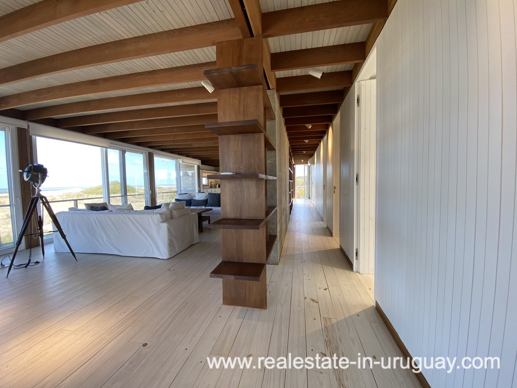 Hallway of Frontline Beach Home in San Antonio close to La Pedrera in Rocha with Sea Views