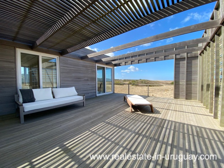 Lounge area of Frontline Beach Home in San Antonio close to La Pedrera in Rocha with Sea Views