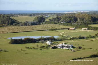 Aerial View of Country House in Jose Ignacio with Lagoon Views