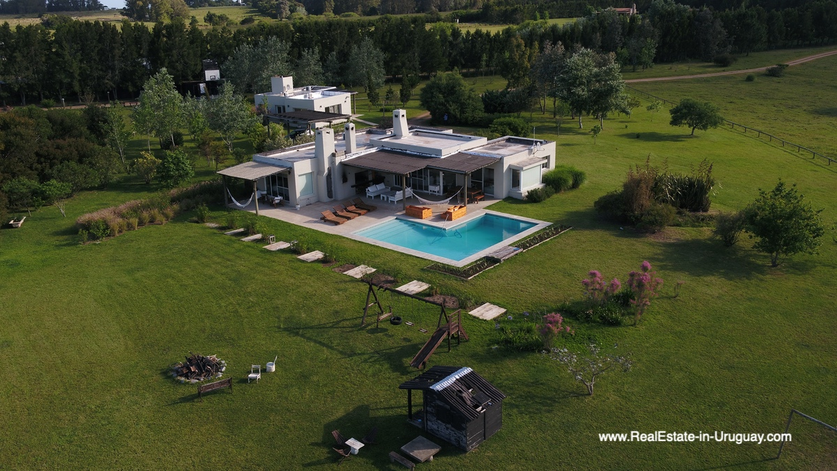 Bird View of Country House in Jose Ignacio with Lagoon Views