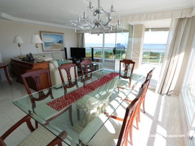 Living of Apartment on the Mansa Beach in Punta del Este