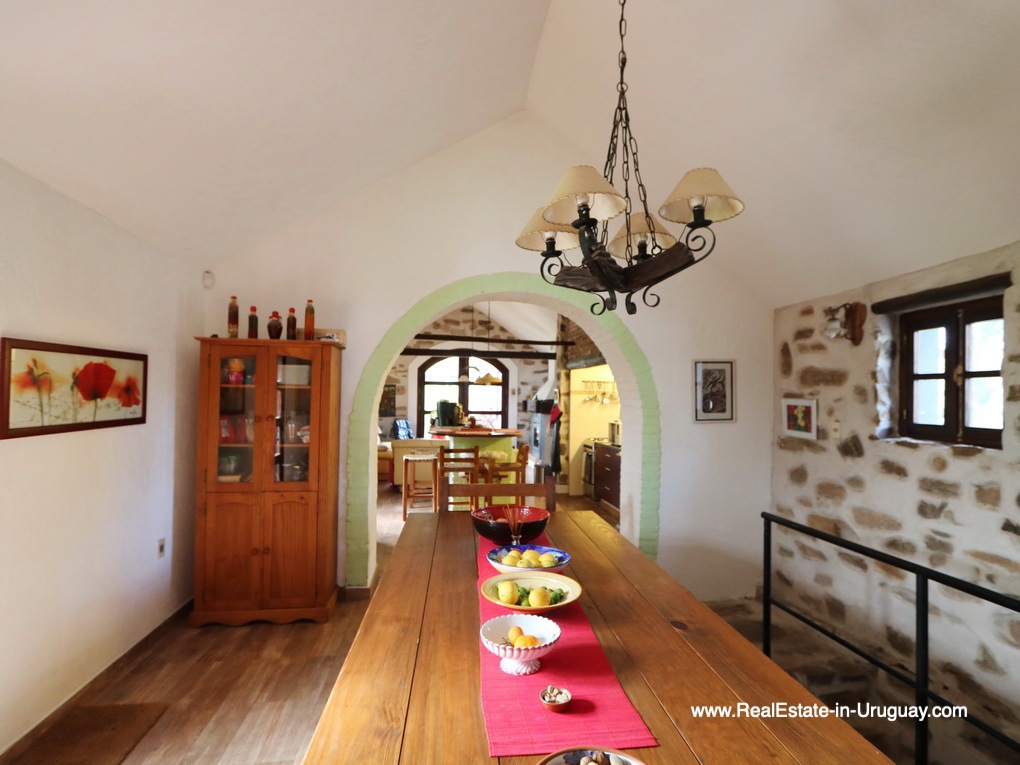Historic Renovated Dining Room of Farm House by Pueblo Eden
