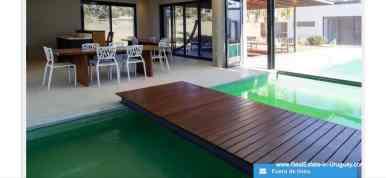 Indoor Pool of Modern High-Tech Home in Laguna Blanca by Manantiales