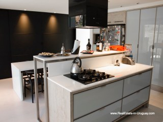 Kitchen of Modern High-Tech Home in Laguna Blanca by Manantiales