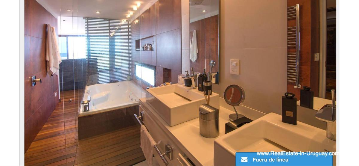 Master Bathroom of Modern High-Tech Home in Laguna Blanca by Manantiales