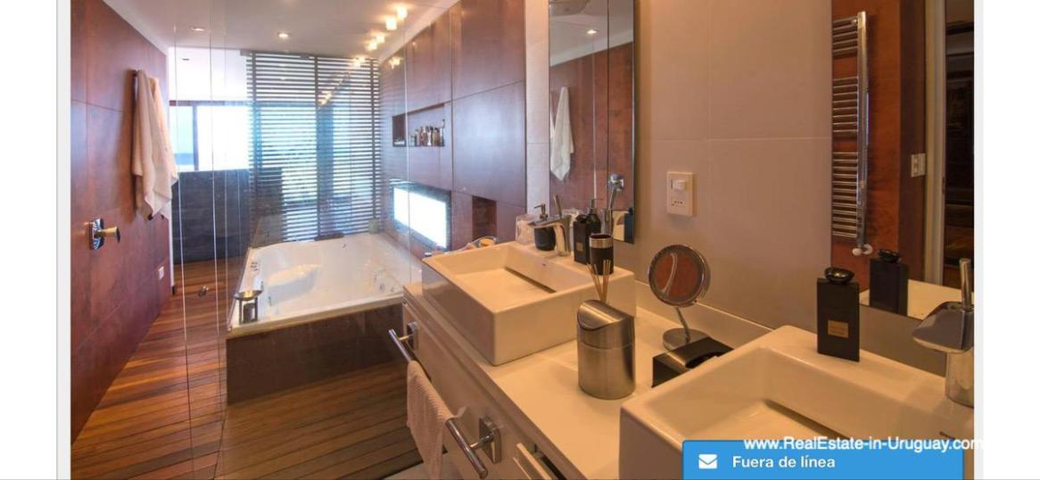 Master Bathroom of Modern High-Tech Home in Laguna Blanca by Manantiales