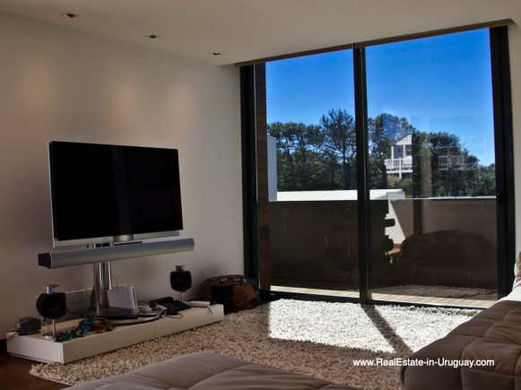 TV Room of Modern High-Tech Home in Laguna Blanca by Manantiales