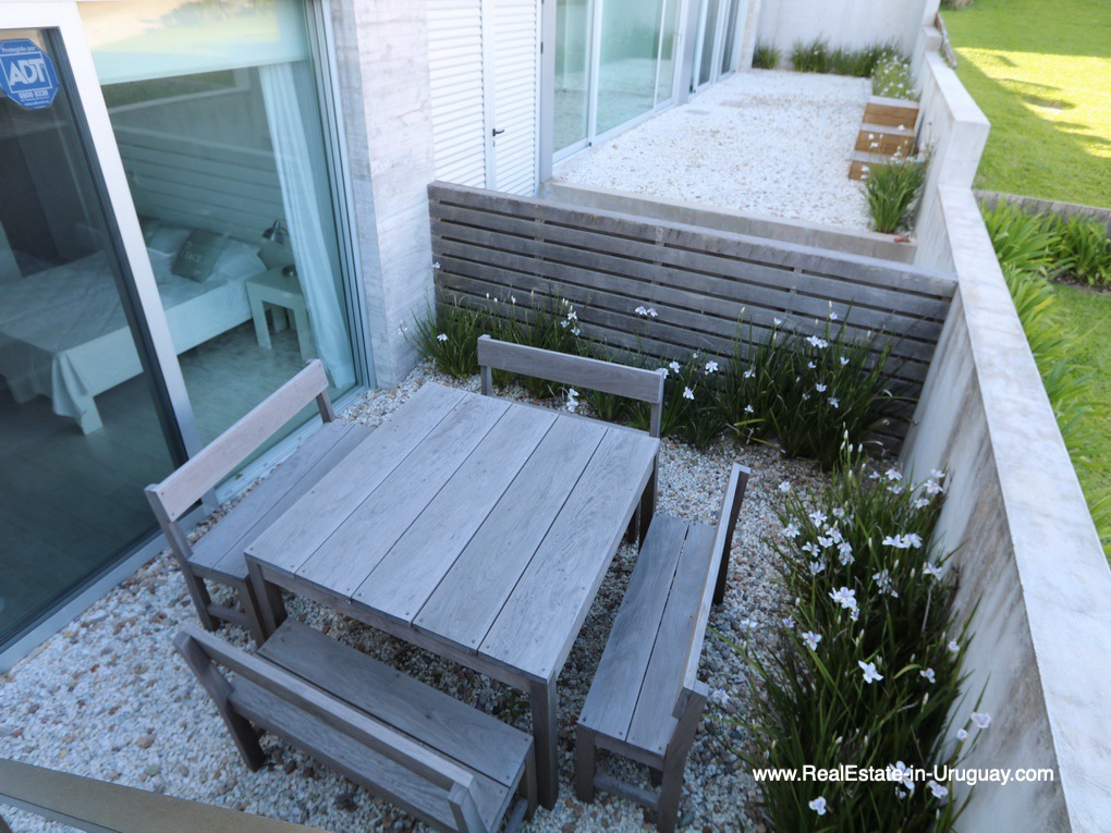Patio of Beach Townhouse in La Barra by the Ocean