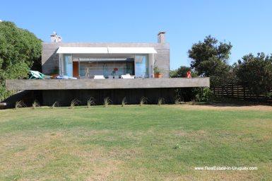 Backside of House of Modern Home in Santa Monica near Jose Ignacio on the Lagoon