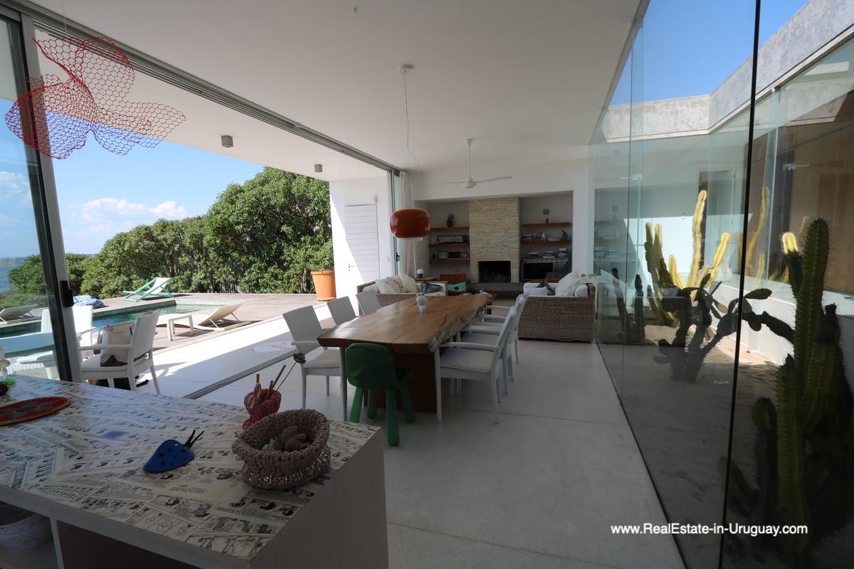 Living Area of Modern Home in Santa Monica near Jose Ignacio on the Lagoon