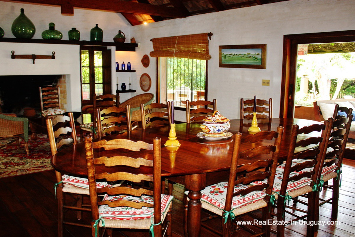 Dining Room of Home on the Golf Course in Punta del Este