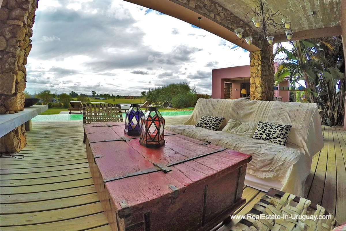 Deck of Chacra in the El Quijote Gated Community outside La Barra