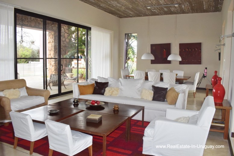 Living Area of Chacra in the El Quijote Gated Community outside La Barra