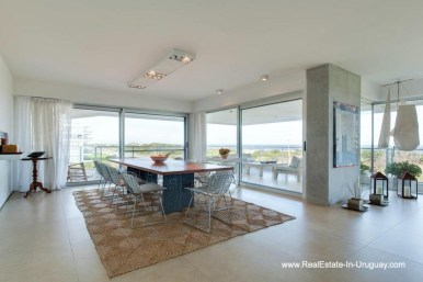 Dining Area of Apartment opposite the Ocean in Punta del Este