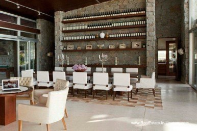 Dining Room of Wonderful Ranch with a Vineyard behind La Barra and Manantiales