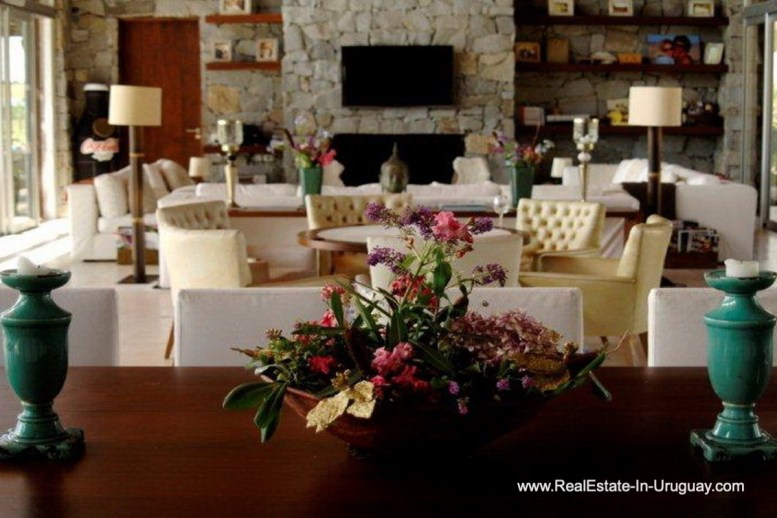 Living Area of Wonderful Ranch with a Vineyard behind La Barra and Manantiales