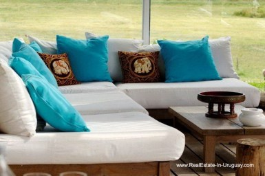 Sitting Area of Wonderful Ranch with a Vineyard behind La Barra and Manantiales
