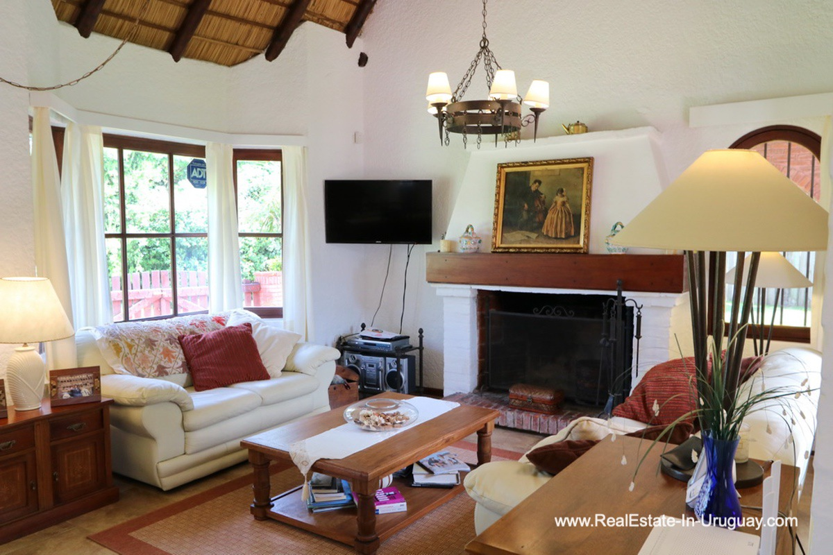 Living Room of Well Maintained Quincho Home in the San Rafael Area