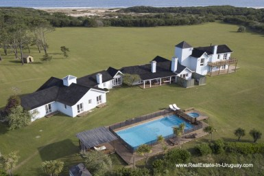 Houses and Pool of Spectacular Beachfront Property near Jose Ignacio