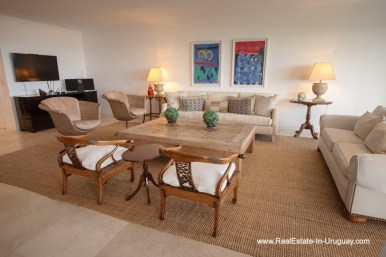 Living Area of Spacious Apartment on the Brava in Punta del Este