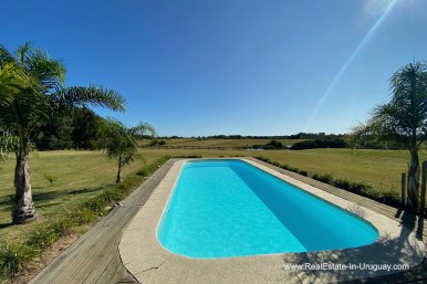 Pool of Ranch on 8 Hectares in Jose Ignacio