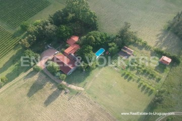 Aireal View of Farm with Organic Garden near Wineries in Canelones
