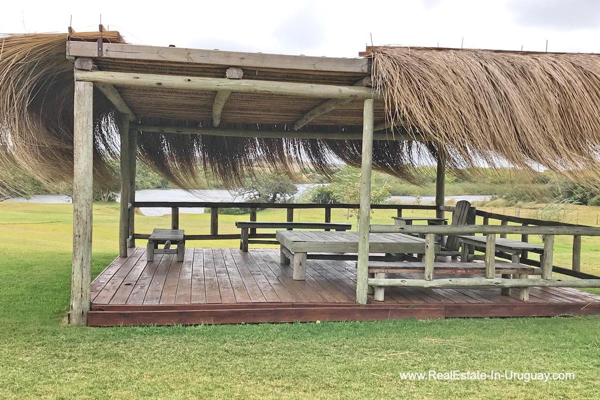 Deck of Estancia along the Jose Ignacio River