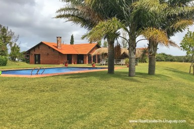 House and Pool of Estancia along the Jose Ignacio River