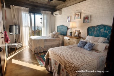 Guest Bedroom of House on a Double Lot with Sea Views in Punta Ballena