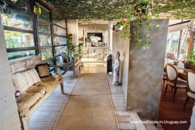 Hallway of House on a Double Lot with Sea Views in Punta Ballena