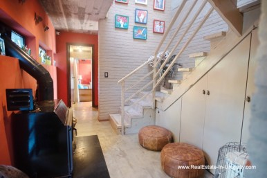 Stairs of House on a Double Lot with Sea Views in Punta Ballena