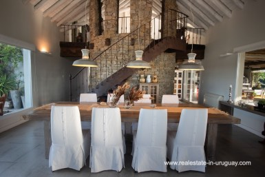 Dining area of Country Home near Laguna del Sauce by Punta del Este