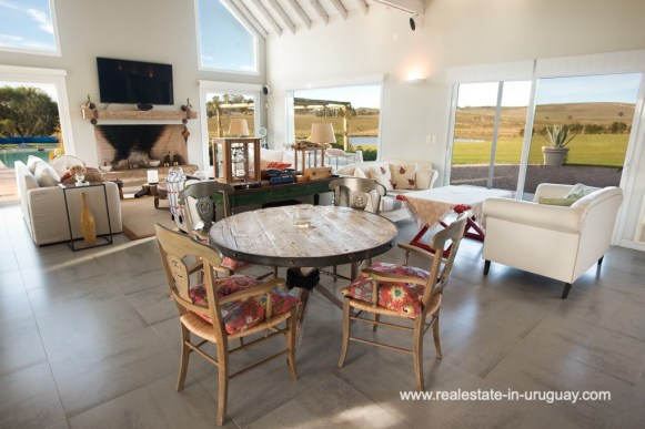 Living Room Country Home near Laguna del Sauce by Punta del Este