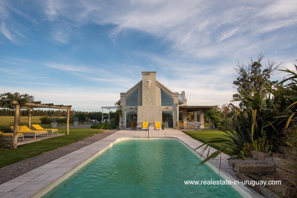 Pool of Country Home near Laguna del Sauce by Punta del Este
