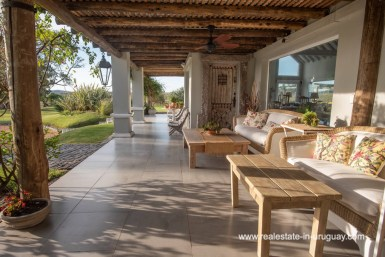 Terrace of Country Home near Laguna del Sauce by Punta del Este