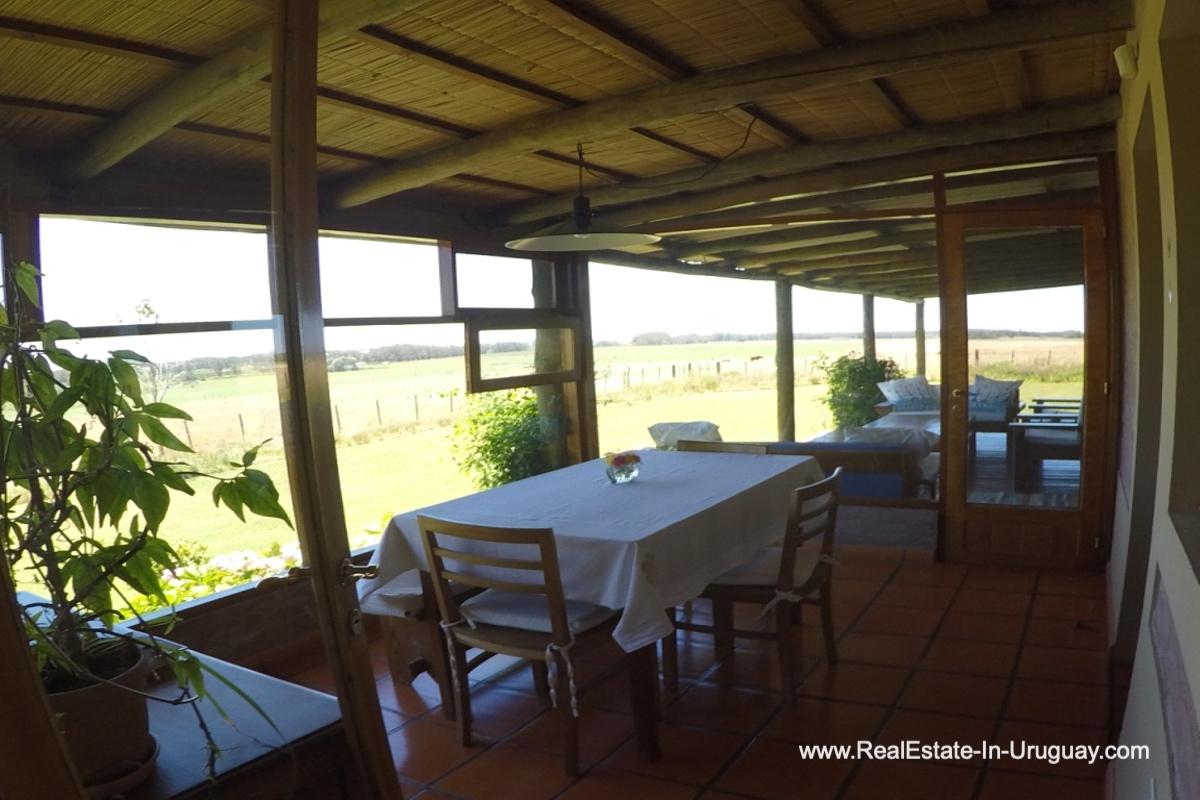 Dining of Charming-Farm-between-Ruta-104-and-Santa-Monica-Entrance