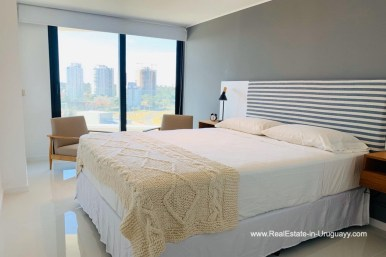 Master Bedroom of Apartment with Sea and Sunset Views