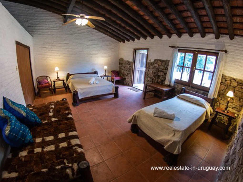 Bedroom of Large Touristic Ranch in the Countryside of Uruguay