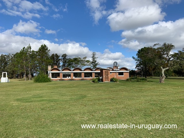 BBQ House of Historical Estancia opposite the old Train Station of Jose Ignacio near Garzon