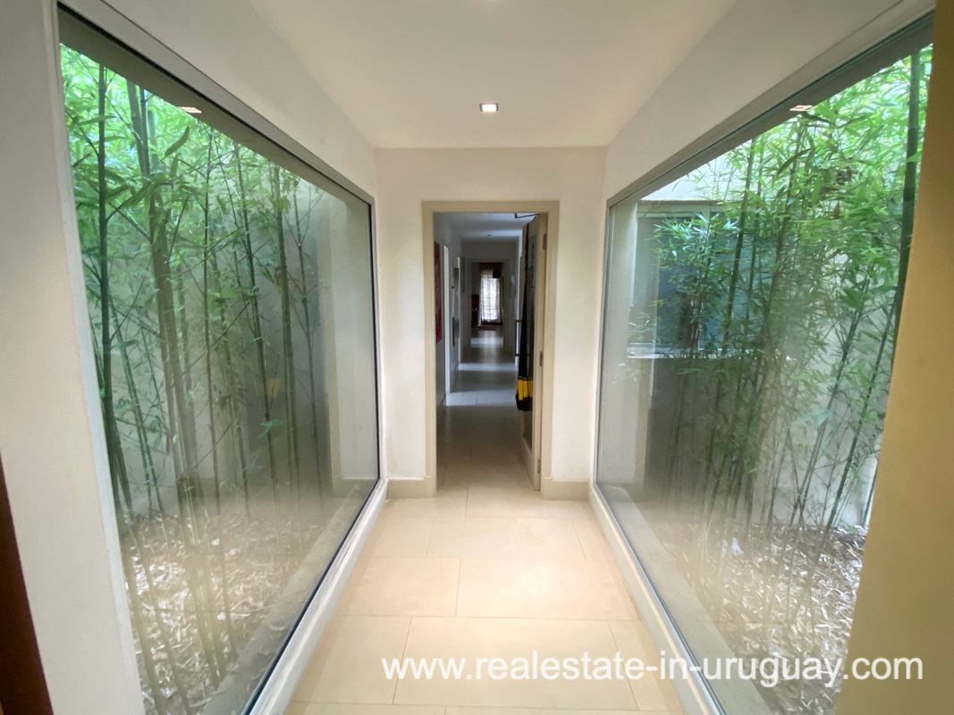 Hallway of Home in the Gated Community La Arbolada in Punta del Este