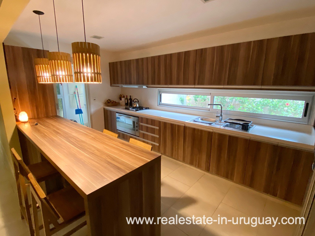 Kitchen of Home in the Gated Community La Arbolada in Punta del Este
