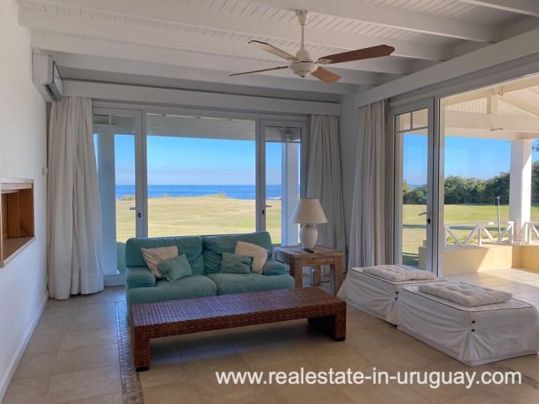 TV Room of Large Oceanfront Villa in Punta Ballena