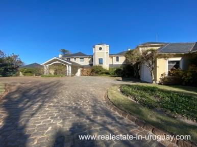 Front of Large Oceanfront Villa in Punta Ballena
