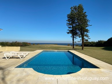 Pool of Large Oceanfront Villa in Punta Ballena