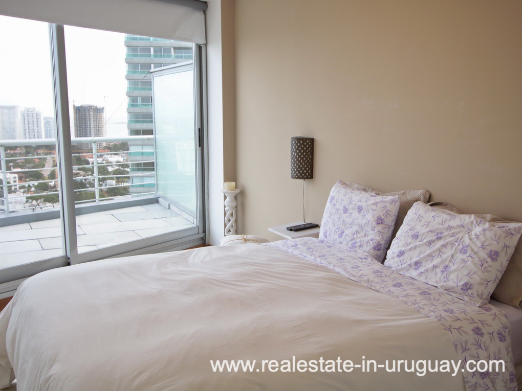 Guest Bedroom of Penthouse in Central Location in Punta del Este