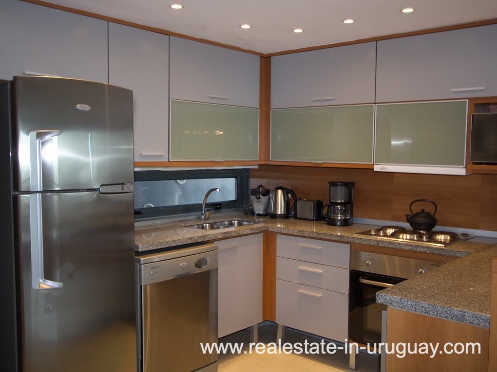 Kitchen of Penthouse in Central Location in Punta del Este